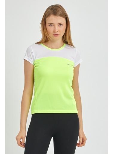 Slazenger Slazenger RANDERS I Kadın T-Shirt Neon Sarı Sarı